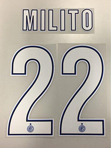 Flock Original Inter Mailand Trikot 25cm - MILITO 22