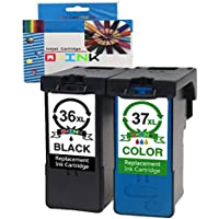 QINK 2PK - Cartucho de Tinta de Repuesto para Lexmark 36XL 37XL de Alto Rendimiento de