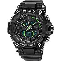 WENY Reloj de Pulsera para Hombre Reloj Inteligente Reloj Militar Reloj de Moda Reloj Deportivo Cuarzo Digital Cuarzo Resistente al Agua (Color : Green)