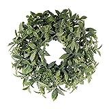 wohnfuehlidee Künstlicher Eukalyptus-Kranz geeist, Farbe grün, Ø 30 cm