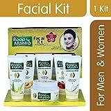 Roop Mantra Facial Kit for Men & Women Glowing Skin (Includes - Cleansing Milk, Face Scrub, Papaya Face Massage Gel, Face Pack, Nourishing Cream, Bleach Cream)
