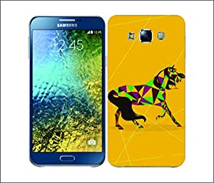 Galaxy Printed 2171 Horse Yellow Colour Hard Cover for Samsung A5
