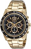 Seiko Brown Rose Gold Stainless Steel Chronograph Watch