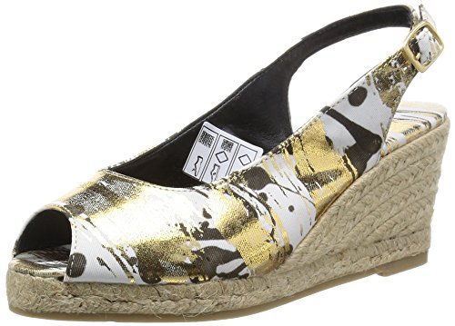 Desigual SHOES JARDIN, Espadrillas donna, Oro (Gold (8010)), 38
