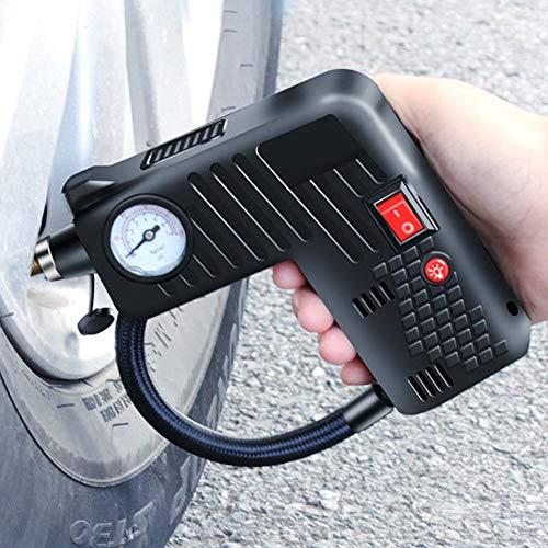 Delleu Compressore d\'Aria Portatile Senza Fili Elettrico Auto Auto Bicicletta Pallacanestro Pneumatico Gonfiatore Pompa 12V