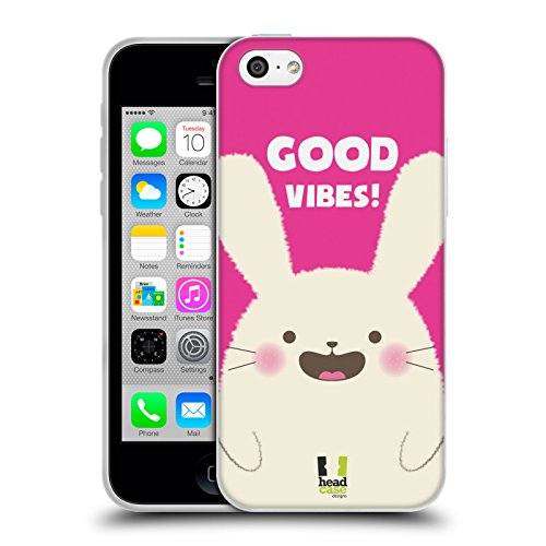 Head Case Designs Occhiali Pattern Hipster Cover Morbida In Gel Per Apple iPhone 5 / 5s / SE Good Vibes