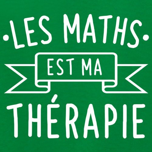 Les maths est ma thérapie - Femme T-Shirt - 14 couleur Vert