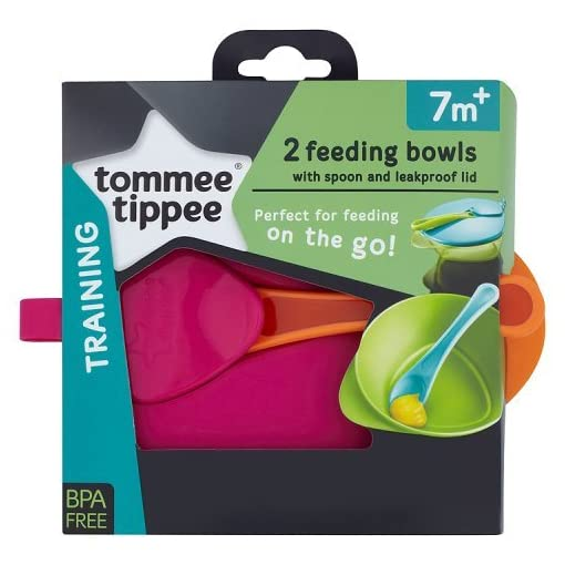 Tommee Tippee Explora Easy Scoop Feeding Bowl Lid and Spoon (Colours May Vary) 51aPkKdQ29L