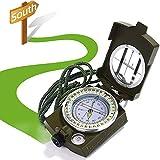 Kompass, XCOZU Kompass Outdoor Professioneller Navigation Kompass Kaufen Compass mit Fluoreszierendem Design, Militär Marschkompass Peilkompass für Camping Jagd Wandern, Wasserfest Stoßfest(Grün)