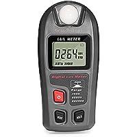 Medidor Iluminación Fotómetro Digital, Luxómetro Portátil con Unidades Conmutables (Lux & Fc) y Modos de Medición (Normal, Media, Máxima), Rango de Medición 0.1 – 200000 Lux y 0.01 – 20000 Fc