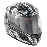 STH049XL - Stealth HD188 Daisho Motorcycle Helmet XL Silver