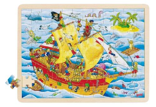 Imagen principal de Goki 57831 - Puzzle de madera Barco Pirata (96 piezas)
