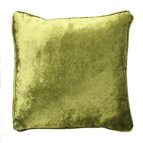 McAlister Textiles Luxury Kollektion | Glänzender Samt Kissenbezug | 40cm x 40cm in Lindgrün | Deko Kissenhülle für Sofa, Couch, Sessel, Kissen in luxuriösem Designer Plüsch