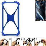 K-S-Trade® Handyhülle Für Doogee S90 Silikon Schutz Hülle Cover Case Bumper Silikoncase TPU Softcase Schutzhülle Smartphone Stoßschutz, Blau (1x),