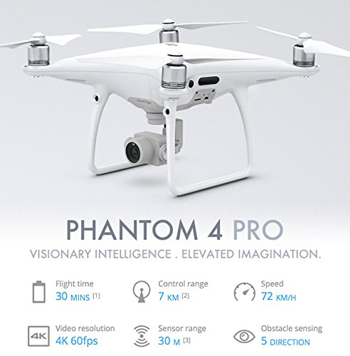devicekart Dji Phantom 4 Pro Rc Quadcopter With One Extra Battery -...