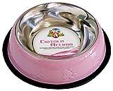 Croci C6059202 Ciotola Acciaio per Gatti o Cani, Multicolore