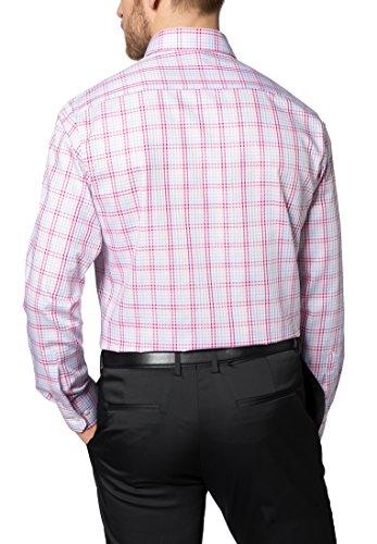 Eterna long sleeve Shirt MODERN FIT Twill checked Rosa/Blu
