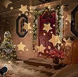 LED Projektionslampe Weihnachten Innen Sterne Muster Warmweiß, LED Projektor Lampe Kinder Sternenhimmel Strahler Weihnachtsbeleuchtung Außen IP44 Wasserdicht Hauswand Garten Beleuchtung Stimmungsbeleuchtung für Geburtstag Party
