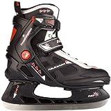 SCHREUDERS SPORT Nijdam Erwachsene Eishockeyschlittschuhe Icehockey Skate, Mehrfarbig (Schwarz/Silber/Rot), 45