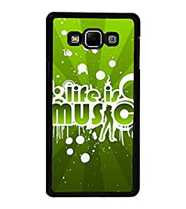 Fuson Premium 2D Back Case Cover Life is music With Yellow Background Degined For Samsung Galaxy A8::Samsung Galaxy A8 A800F