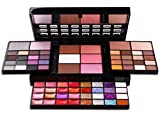 Pure Vie® Professionelle 74 Farben Lidschatten Concealer Rouge und Lipgloss Palette Makeup Kit - Ideal für Sowohl den Professionellen als auch Persönlichen Gebrauch