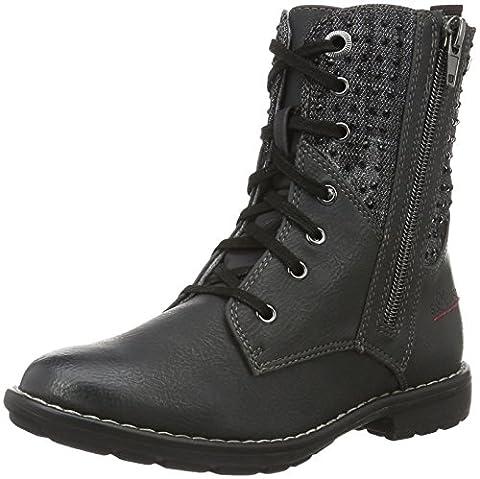 s.Oliver Mädchen 46216 Combat Boots, Grau (Anthracite Com 215), 34 EU