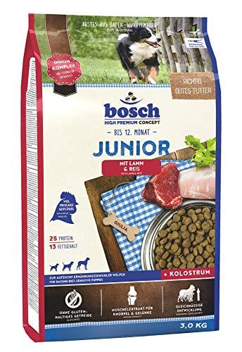 bosch HPC Junior mit Lamm & Reis | Hundetrockenfutter zur Aufzucht ernährungssensibler Welpen, 1 x 3 kg