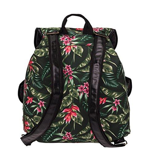 Karen Daypacks Casual Segeltuch Canvas Blumen Schöne Vintage webliche Rucksack Schulranzen Freizeitrucksack Tasche Rucksäcke #24
