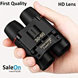 SaleOn Polarized HD Professional Lightweight Pocket Size Binocular Telescope Folding 30x60 Zoom Lens for Sports, Hunting, Camping for Bird Watching(Black)