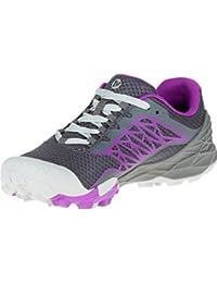 Merrell All Out Terra Light - Zapatillas para correr Mujer - gris/violeta 2016