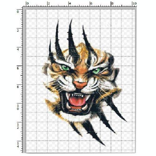 3Pcs [Le Tigre sauvage] Tatouages temporaire imperméable Tatouages
