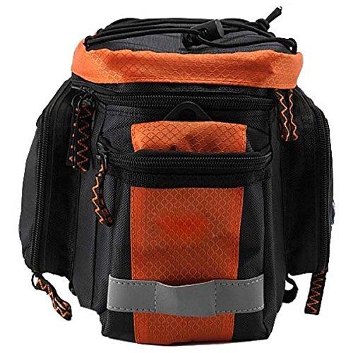 Outdoor-Fahrradzubeh_r Tasche Mountainbike Hecktasche Reit Bag Schwarz orange