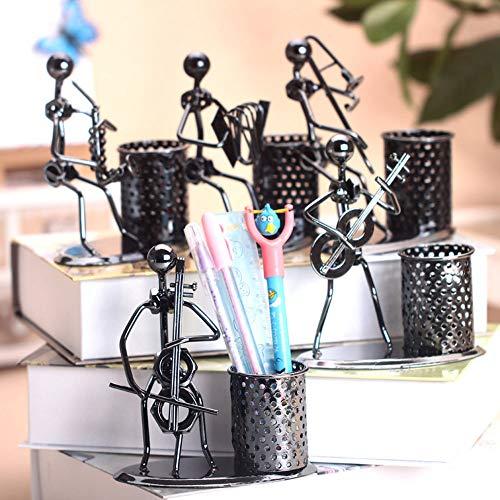 LIZHI Stiftehalter Pen Organizer im 2er-Pack Metall Schmiedeeisen Band mit Stifthalter Persönlichkeit Mode Kreative Metal Crafts
