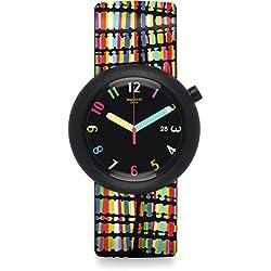 Swatch Reloj Digital de Cuarzo para Mujer con Correa de Silicona – PNB400