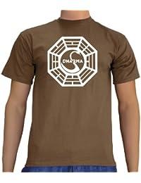 Touchlines Unisex/Herren Lost Dharma Logo B1081 T-Shirt