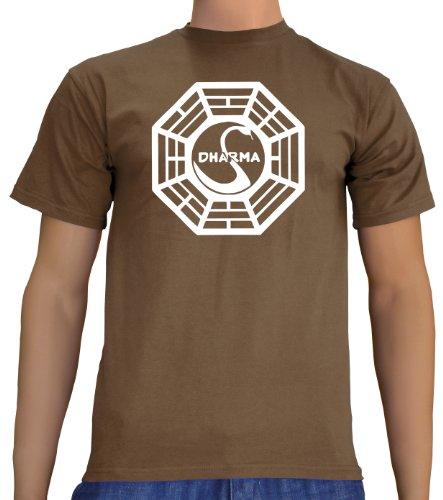Lost Dharma Logo T-Shirt Brown, S Hydra Serie