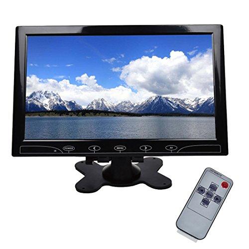Toguard Monitor 10.1 Pollici TFT LCD a colori Ultrafine, 2 connessioni Video\Audio per PC, VGA HDMI AV, Monitor di videosorveglianza per controlli remoti, casse audio Toguard incluse, visione angolare ampia