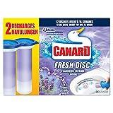 Canard WC Fresh Disc Nettoyant Fraîcheur Lavande 12 Disques 2 x 36 ml - Lot de 2