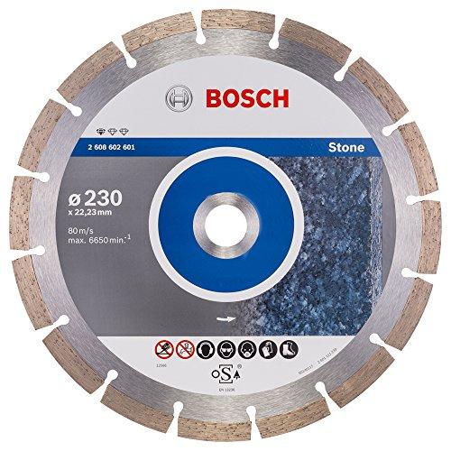 Bosch Professional Diamanttrennscheibe (für Granit und Naturstein, Ø: 230 mm, Zubehör für Winkelschleifer)