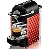 Krups Nespresso Pixie XN3006 - Cafetera de cápsulas de 19 bares con 2 programas de café, bandeja extraíble, indicador luminoso de depósito vacío y función de autoapagado, color Rojo