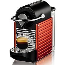 Nespresso Pixie XN 3006, cafetera de cápsulas, 19 bares, Krups, ergonómica, inteligente, apagado automático, color rojo