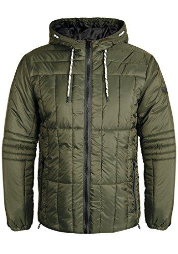 Blend Santiago Herren Steppjacke Übergangsjacke Jacke mit Kapuze, Größe:XL, Farbe:Ivy Green (77086)