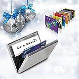 Porte-Cartes Métallique Pour Dames et Hommes avec la Technologie de Blocage IRF Acier Inoxydable Résistant à lEau 6 Fentes Protecteur de Carte de Crédit le Plus Fiable par de Card Genie