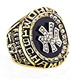 Wibbosad Herren Champion Das Jahr 1998 Yankees Meisterschaft Ringe Rostfreier Stahl,Größe 65 (20.7)