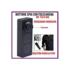 Idea Regalo - BOTTONE CON MICROCAMERA SPIA CIMICE VIDEO FOTO SPY (MICRO SD 8 GB INCLUSA)