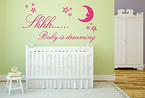 baby-is-dreaming-quote-vinyl-wall-art-sticker-mural-decal-home-wall-decor-childrens-babys-nursery-be