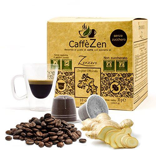 150 CaffèZen senza zucchero - Caffè con estratto di Zenzero senza olio di palma in capsule compatibili nespresso*