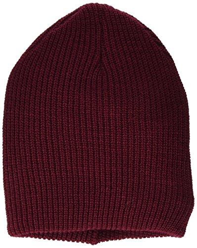 Mavi Herren HAT Strickmütze, Rot (Burgundy 21633), One Size