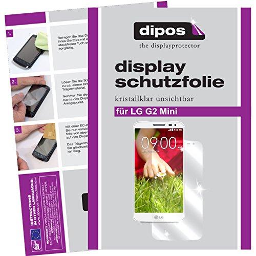dipos I 2X Schutzfolie klar passend für LG G2 Mini Folie Bildschirmschutzfolie