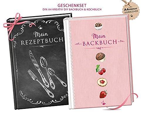 GESCHENKSET: DIN A4 KREATIV DIY BACKBUCH & KOCHBUCH (Hardcover)